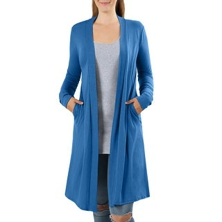 NE PEOPLE Womens Stretch Loose Fit Above Knee Length Rayon Cardigan