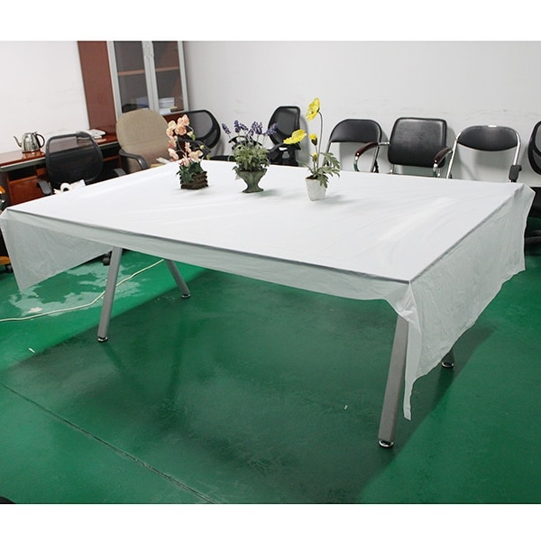 AGPtek Disposable Plastic Table Cover 54 by 108 Inch 137cm*274cm - White