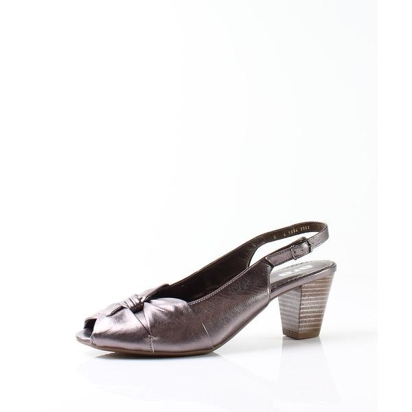 Ara NEW Bronze Women's Shoes Size 8.5M Metallic Slingback Heel