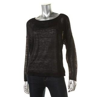 Eileen Fisher Womens Linen Hi-Low Pullover Top - S