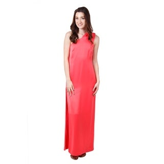 Long Satin One-Shoulder
