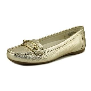 Anne Klein Noris Women  Round Toe Leather Gold Loafer