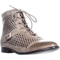 Kensie Rahi Perforated Lace Up Ankle Boots, Taupe - 9 us / 40.5 eu