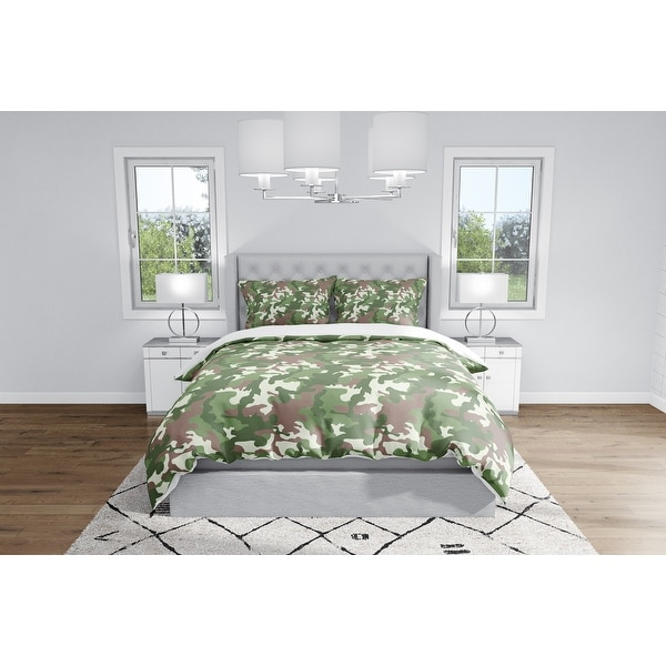 CAMO FLOW GREEN BROWN Duvet Cover By Kavka Designs. Opens flyout.