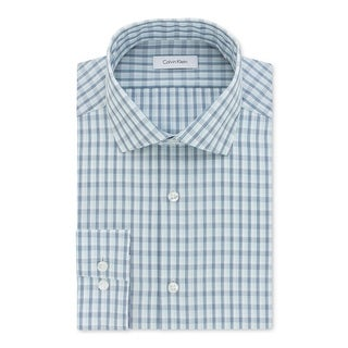 Calvin Klein Mens Button-Down Shirt Classic Fit Striped