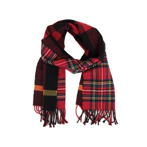 Burberry Women's Bright Red Wool Vintage Check Scarf 40677541 - One Size