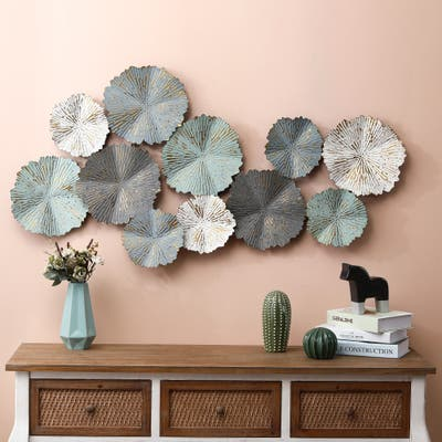 Metal Flowers Modern Wall Decor