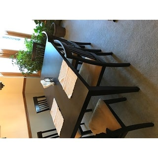 Wilma Black Cushioned Dining Set by iNSPIRE Q Classic