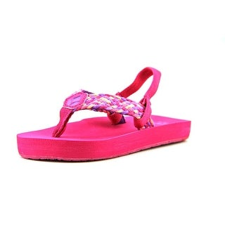 Reef Little Mallory Youth Open Toe Canvas Pink Thong Sandal