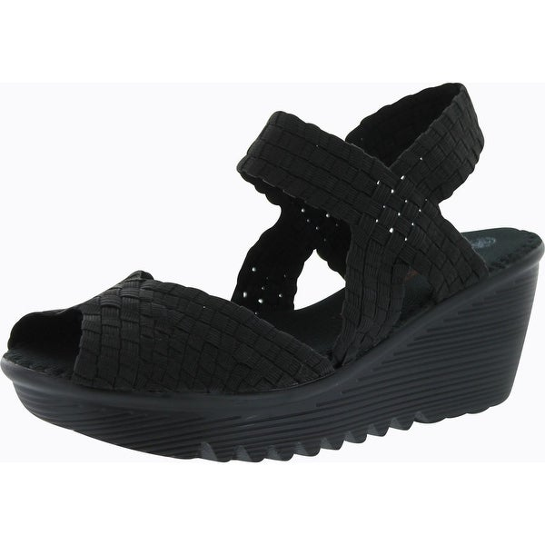 Bernie Mev Womens Fame Woven Sandals - Black
