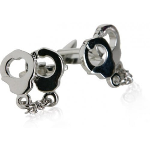 Police Handcuffs Law And Order Cop Cufflinks