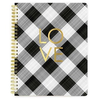 "Love; Blank Pages - The Good Life Composition Spiral Notebook 7.5""X9.75"""