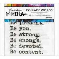 Dina Wakley Media Collage Word Pack-
