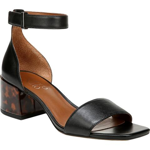 Franco Sarto Womens MERRYL Block Heels Leather Ankle Strap