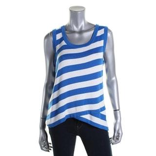 August Silk Womens Asymmetrical Striped Tank Top Sweater - XL