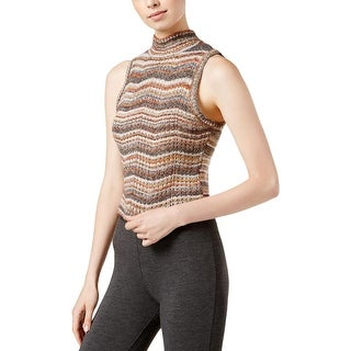 Kensie Womens Pullover Sweater Knit Crop