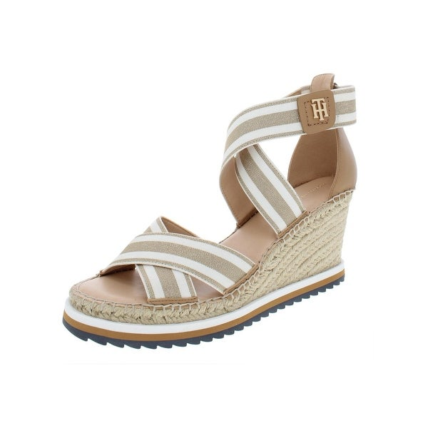 c033fb07e4 Shop Tommy Hilfiger Womens Yesia Wedge Sandals Stretch - Free ...