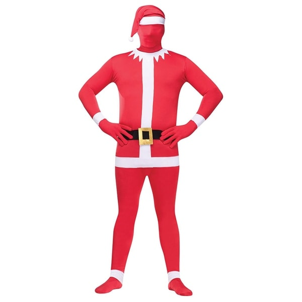 Red and White Santa Claus Body Skin Suit Christmas Costume - Adult Size