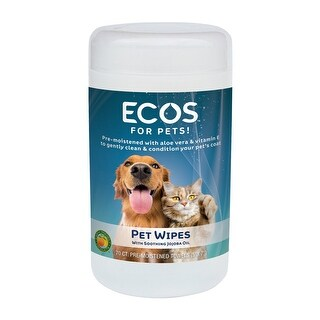 Earth Friendly Products Natural Pet Wipes, (70) Pre-Moistened Towels