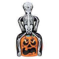 "Pack of 6 Inflatable Skeleton Party Pooper on Pumpkin Halloween Cooler 47.5"" - Black"