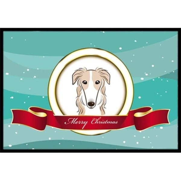 Carolines Treasures BB1538JMAT Borzoi Merry Christmas Indoor & Outdoor Mat 24 x 36 in.