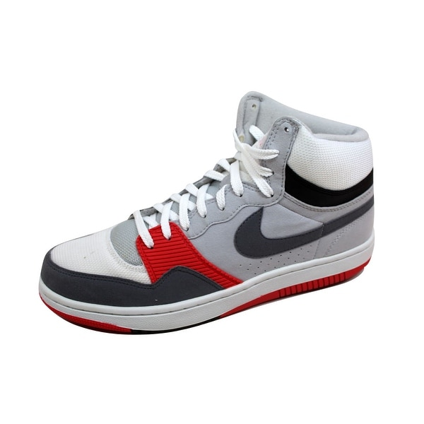 Nike Men's Court Force Hi Basic White/Cool Grey-Neutral Grey-Radient Red 314362-106