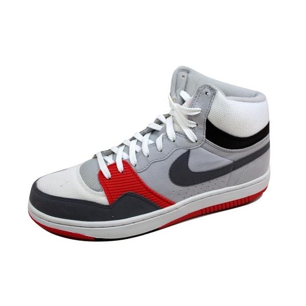 Nike Men's Court Force Hi Basic White/Cool Grey-Neutral Grey-Radient Red 314362-106