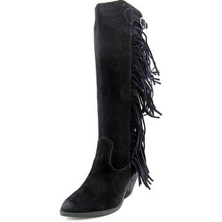 Carlos by Carlos Santana Lever Pointed Toe Suede Knee High Boot