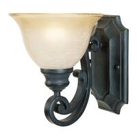 Designers Fountain 96101 1-Light Up Lighting Wall Sconce from the Barcelona Collection - natural iron - n/a