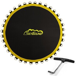 """SkyBound Premium 142"""" Trampoline Mat with 96 V-Rings (Fits 14' Frames & 8.5"""" Springs)"""