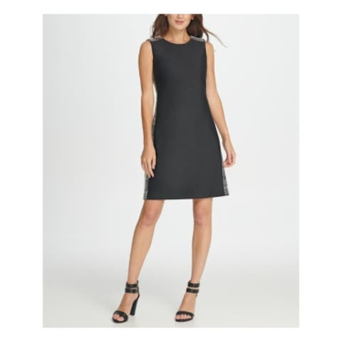DKNY Black Sleeveless Above The Knee Dress 8