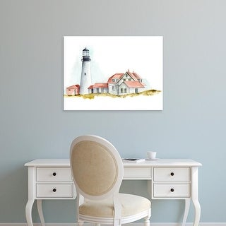 Easy Art Prints Regina Moore's 'Ocean Beacon II' Premium Canvas Art