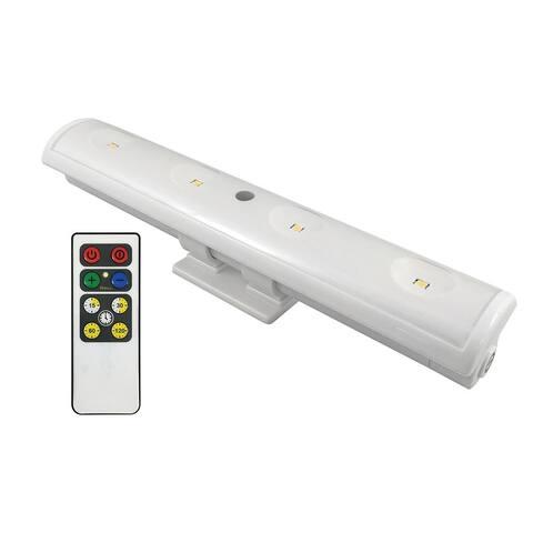 Westek LW1205W-N1 Swivel LED Clamp Light with IR Remote, White