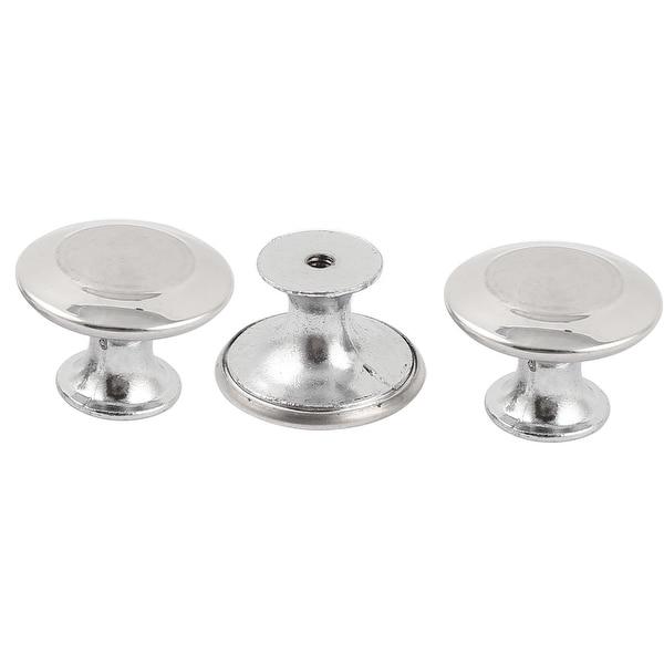 3 x Round Top Door Wardrobe Cabinet Drawer Pull Knobs Set 30 x 21mm