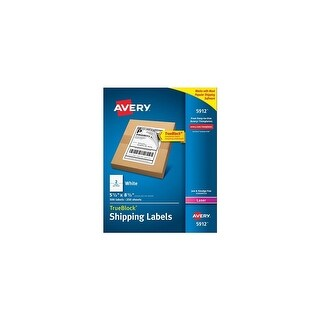 Avery AV5912 Shipping Labels with TrueBlock Technology & Permanent-Adhesive