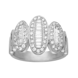 7/8 ct Diamond Ring in 14K White Gold