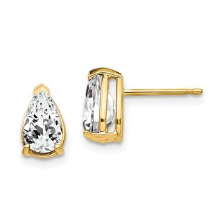 Link to 14K Yellow Gold 8x5mm Pear Cubic Zirconia Earrngs by Versil Similar Items in Earrings