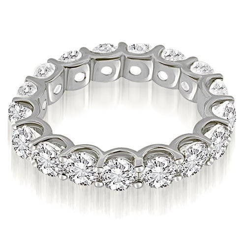 3.75 cttw. 14K White Gold Classic U-Prong Round Diamond Eternity Band Ring