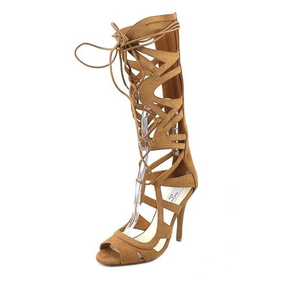 Chelsea & Zoe Carass Women Open Toe Canvas Tan Gladiator Sandal