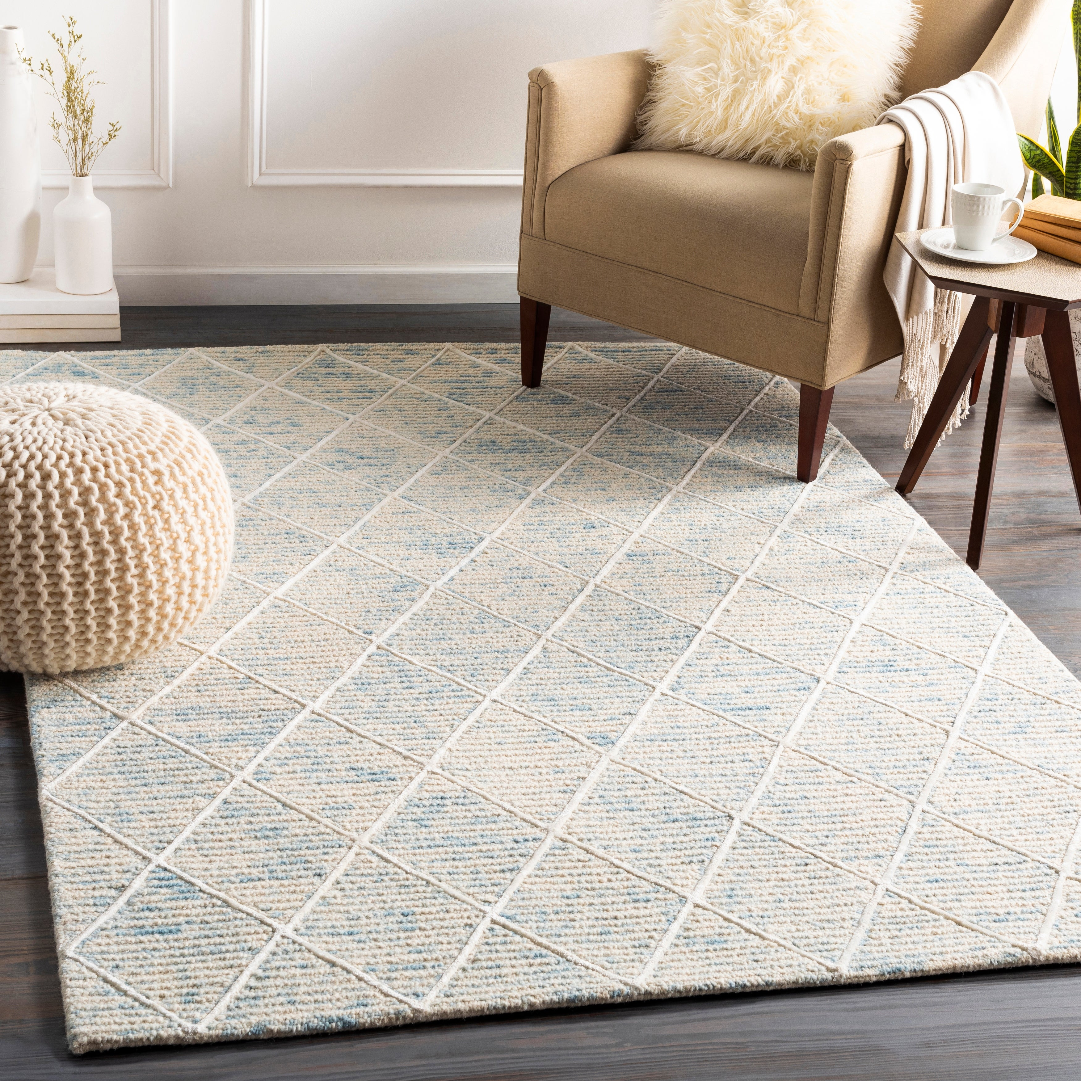 Padstow Handmade Wool Blend Trellis Area Rug On Sale Overstock 29558729
