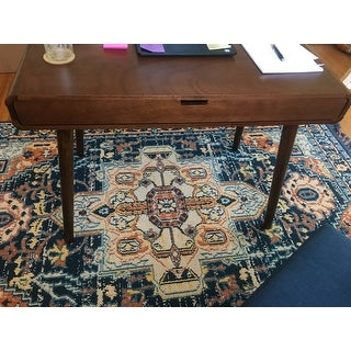 Peninah Mid Century Faux Rubberwood Writing Desk by Christopher Knight Home