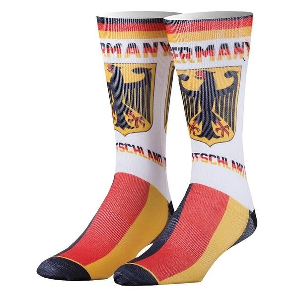 Odd Sox Germany Print Country Crew Socks - Deutschland Flag - One size