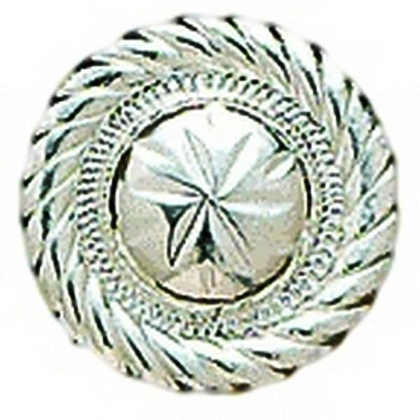 "M&F Western Concho Womens Engraved Round Roped Edge 1"" Silver"