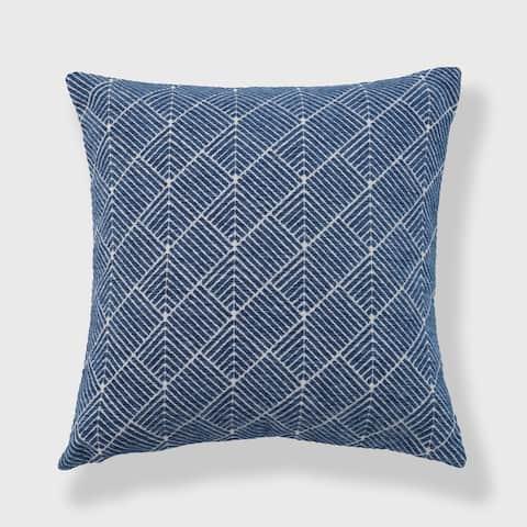Diamond Geo Chenille Woven Jacquard Pillow