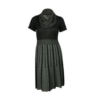 Alfani Women's Striped Cowl Neck Sweater Dress - xL