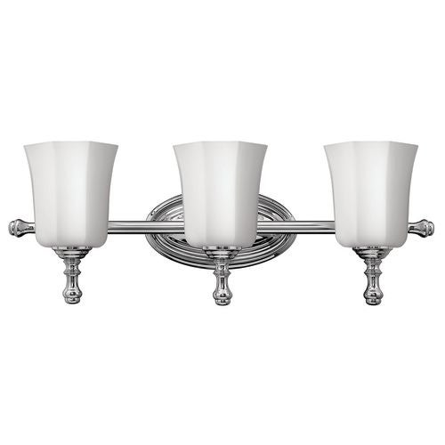 "Hinkley Lighting H5013 3 Light 24"" Width Bathroom Vanity Light in Chrome from the Shelly Collection"