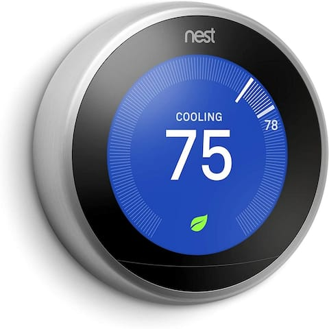 Google Nest Learning Smart Thermostat 3rd Generation Stainless Steel - Stainless Steel