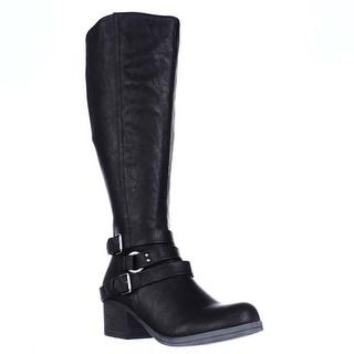 Carlos by Carlos Santana Camdyn Multi Buckle Riding Boots, Black