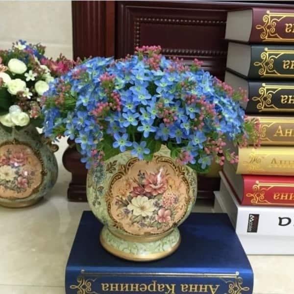 UK/_ 1 BOUQUET 72 HEADS ARTIFICIAL FAUX SILK FLOWERS HOME WEDDING PARTY DECOR SMA