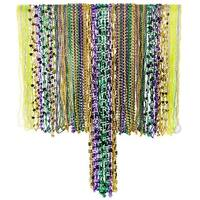 Mardi Gras Bead Necklaces Bulk Assortment - 100pcs